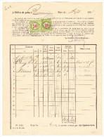 Heimat BE BIEL-BIENNE 50Rp. + 10Rp. Porto Auf Post Beleg Vom 9.1898 - Portomarken