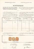 Heimat BE ST IMIER 2.1.1899 Mit 3Fr. (2) Und 20Rp. Stehende Helvetia Auf Post Bordereau - 1882-1906 Armoiries, Helvetia Debout & UPU