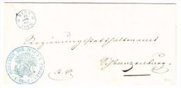 Heimat BE BERN 24.1.1855 Justiz Und Polizei Direktion Brief Nach Pflanzenburg - Schweiz