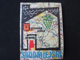 HOTEL ORBIS PENSION MOTEL INN SPA ZIELONA GORA POLSKA POLAND TAG LUGGAGE LABEL ETIQUETTE AUFKLEBER DECAL STICKER - Hotel Labels