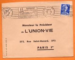 BAYONNE LE PAYS BASQUE 19 / 12 / 1958 Lettre Entière N° Q 201 - Sellados Mecánicos (Publicitario)