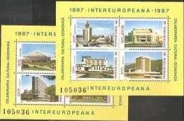 Romania 1987 BF Nuovo** - Mi.231/2  Yv.187/8 - Blocchi & Foglietti