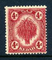 Malaysian States - Kedah 1921-32 Rice - 4c Deep Carmine - Wmk. Script CA - HM (SG 29) - Kedah
