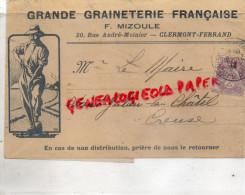 63 -CLERMONT FERRAND -BANDE PRESSE-GRANDE GRAINETERIE FRANCAISE- F.MIZOULE 20 RUE ANDRE MOINIER-1913 HORTICULTURE FLORE - Chaussures