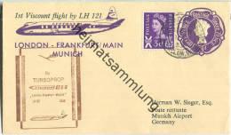 Luftpost Deutsche Lufthansa - Erstflug London - München Am1.Februar 1959 - Ganzsache - 1952-.... (Elizabeth II)