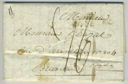 Marque Linéaire 115 Moissac / LàC 1817 Pour Bruxelles. Voir Marques De Taxe. - 1801-1848: Precursors XIX