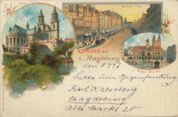 ALLEMAGNE - Gruss Aus MAGDEBURG (1897) - Magdeburg