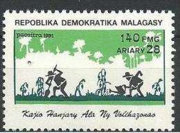 """Madagascar YT 1092 """" Protection De La Nature """" 1991 Neuf ** - Madagascar (1960-...)"""