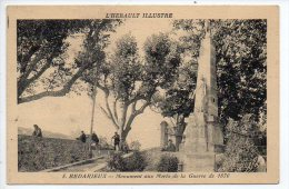 Bédarieux : Monument Aux Morts De La Guerre De 1870 - Bedarieux