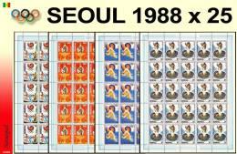 Senegal 0768/71** JO De Séoul - 4 Sheet S / Bogen / Feuilles De 25 -MNH Cote 200 - Sénégal (1960-...)