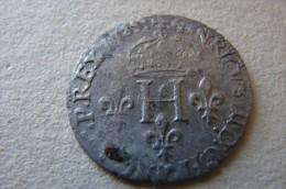 Henri III Double Sol Parisis 1583 D Lyon - 987-1789 Monnaies Royales