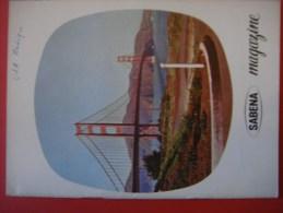 SABENA MAGAZINE 1961 ( Avion Aviation Tourisme ) - Guides Touristiques