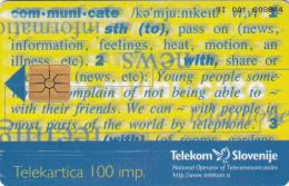 SLOVENIA SLOVENIJA PHONECARD 1997 COM-MUNI-CATE CEFTA 97 SUMMIT OF THE PRIME MINISTERS PORTOROZ TELEKOM - Slovénie