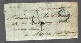 France Lettre LAC Du 17-07-1835 Pour Provins - CAD Provins Au Dos - 1801-1848: Précurseurs XIX