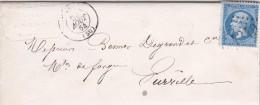 712 -   LAC  NAPOLEON 22 - ,20.8.1864    De  ................... à  FURVILLE - Postmark Collection (Covers)
