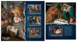 GUINEA 2014 - Christmas Paintings - YT 7070-2 + BF1620; CV = 42 € - Guinée (1958-...)