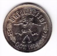 1974 Oktoberfest Kitchener-Waterloo $1 Token - Canada