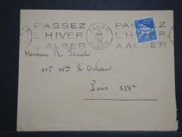 """FRANCE - ALGERIE - Obli. Mécanique """" Passez L 'hiver à Alger """" Sur Env. En 1928 - A Voir - Lot P14434 - Algérie (1924-1962)"""