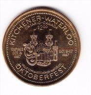 1987 Oktoberfest Kitchener-Waterloo $2 Token - Canada