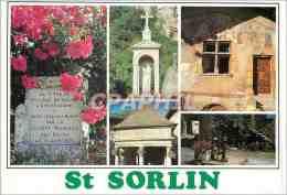 CPM St Sorlin En Bugey St Sorlin Villate De Roses Statue De La Vierge La Fotaine Lavoir De Collonges - Belley