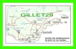 MAPS, CARTES GÉOGRAPHIQUES - SOCIÉTÉ DES ÉTABLISSEMENTS DE PLEIN AIR DU QUÉBEC - - Cartes Géographiques