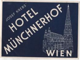 Etiquette Hôtel Münchnerhof WIEN - Hotel Labels