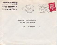 Nantes 1970 - Flamme Floralies - Fleur Blumen Flower - Mechanical Postmarks (Advertisement)