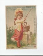 EAU DES CARMES BOYER (MELISSE) CHROMO LA PECHE - Perfume Cards