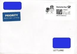 Germany Deutschland 2015 Bird Vogel Oiseau - Owl - Personalized Stamp 0.80 (used On Cover) - Eulenvögel
