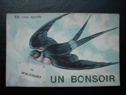 Cpa/pk Walcourt Elle Vous Apporte Un Bonsoir 1910 - Walcourt