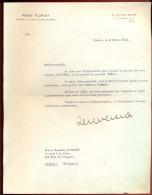 Courrier De René Floriot, Avocat à Melle Suzanne Romiée, Avocate Et Journaliste. - Autographes