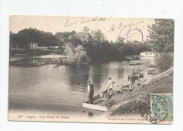Cp , 77 , LAGNY , Une Partie De Pêche , Voyagée 1904 - Lagny Sur Marne