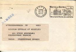 Marcq En Baroeul 1975 - Flamme PP Port-payé - Ville Fleurie - Roses Fleur Blumen Flower - Marcophilie (Lettres)