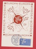 Carte  //  Europa  //  Paris //  16 / 09/ 61 - Cartes-Maximum