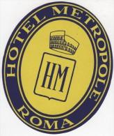 Etiquette Hôtel Métropole Roma - Hotel Labels