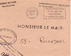 Valenciennes 1971 - Flamme Concours Hippique - Parc Thermal Saint-Amand Les Eaux - Chevaux Horse - Annullamenti Meccanici (pubblicitari)