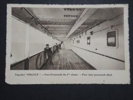 """Bateaux - Paquebot """" France """" Pont Promenade Des 1ères Classes - Voyagé En 1928 - A Voir - Lot P14445 - Paquebots"""