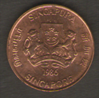 SINGAPORE 1 CENT 1986 - Singapore