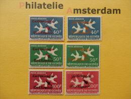 Guinea 1962, OVERPRINT / SPACE RAUMFAHRT ESPACE: Mi 145-48, Type I+II, ** - Afrika