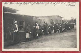 Allemagne - Camp De Prisonniers Français - P.O.W. - Französische Kriegsgefangene Vor Der Küche - Feldpost - Guerre 14/18 - Guerre 1914-18