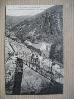 PUY DE DOME  63    CHATEAUNEUF-LES-BAINS   -  LA  PASSERELLE      ANIME        TTB - Autres Communes