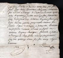 14 JUILLET 1765, DEPt  DU CHER, GENERALITE DE BOURGES, 1 FEUILLE , 2 SCANS - Seals Of Generality
