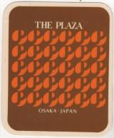 Etiquette Hôtel Autocollant The PLAZA OSAKA Japan - Hotel Labels
