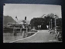 Cpa/pk Weggis, Quai Steamboat - LU Lucerne