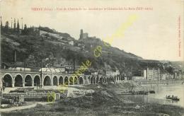 38. VIENNE . Pont Du Chemin De Fer Dominé Par Le Chateau Fort La Batie . - Vienne