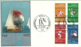 Bund: FDC Mit Sonderstempel, München 1972 - Sommer 1972: München