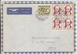 Genève 1 1955 - Exp. Lettres - Brief Cover - Storia Postale