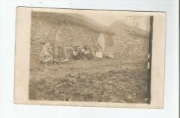 MACEDOINE REGION DE MONASTIR CARTE PHOTO AVEC PAYSANS 1917 - Macédoine