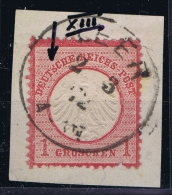 Deutsches Reich: Mi Nr 4  XIII Plattefehler S Gebrochen   Gestempelt/used/obl.  CV 200 € - Allemagne