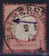 Deutsches Reich: Mi Nr 4   Plattefehler  Kreis Gebrochen  Gestempelt/used/obl. - Germany